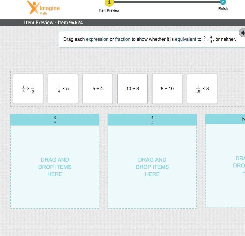 Imagine Math screen